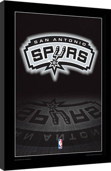 NBA - San Antonio Spurs Logo Uokvirjeni plakat