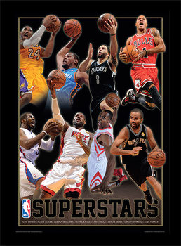 NBA - Superstars Uokvirjeni plakat