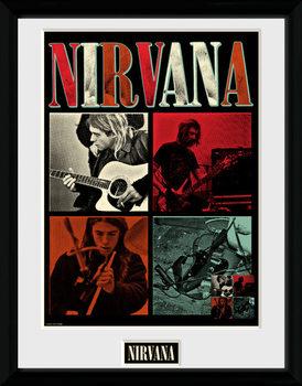 Nirvana - Squares uokvirjen plakat-pleksi