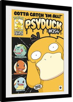 Uokvirjeni plakat Pokemon - Psyduck Comic