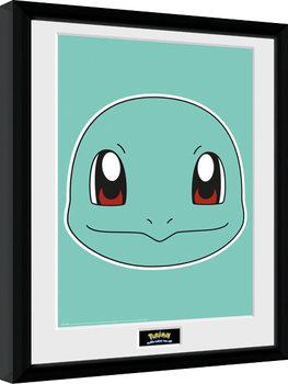 Uokvirjeni plakat Pokemon - Squirtle Face