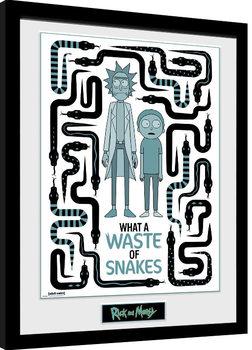 Uokvirjeni plakat Rick & Morty - Waste of Snakes