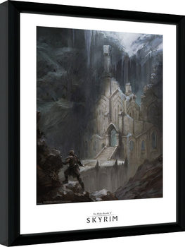 Skyrim - Elf Temple uokvirjen plakat-pleksi
