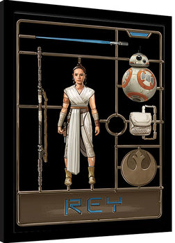Uokvirjeni plakat Star Wars: The Rise of Skywalker - Rey Model
