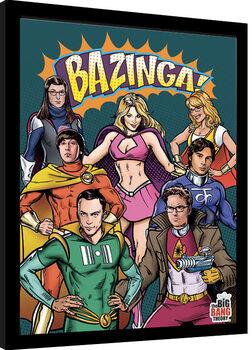 Uokvirjeni plakat The Big Bang Theory - Superheroes