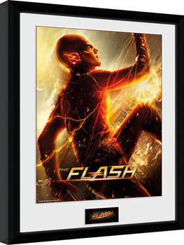 Uokvirjeni plakat The Flash - Run