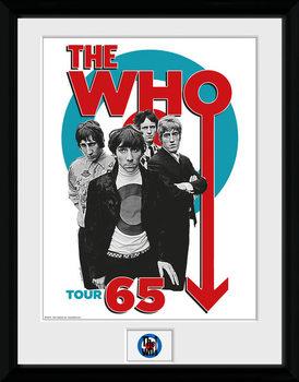 The Who - Tour 65 Uokvirjeni plakat