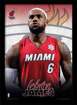 NBA - Lebron James Uokvirjen plakat-pleksi