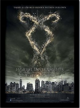 THE MORTAL INSTRUMENTS CITY OF BONES – rune  Uokvirjen plakat-pleksi