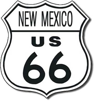 US 66 - new mexico Metalen Wandplaat
