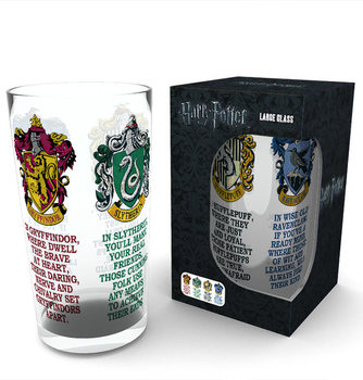 Vannglass  Harry Potter - House Crests