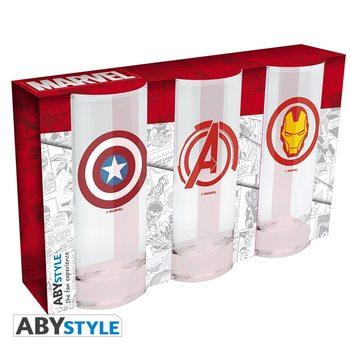 Vannglass Marvel - Avengers, Captain America & Iron Man