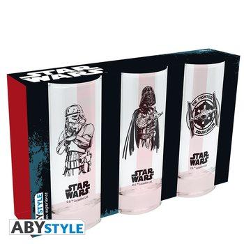 Vannglass Star Wars - Darth Vader, Stormtrooper, Tie Fighter