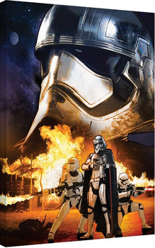 Vászon Plakát Csillagok háborúja VII (Star Wars: Az ébredő Erő) - Captain Phasma Art