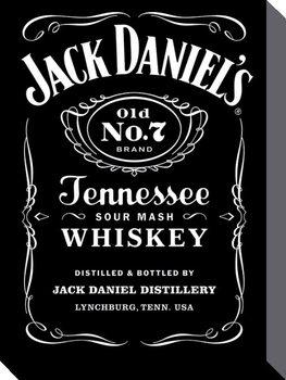 Vászon Plakát Jack Daniel's - Label