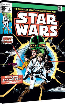Vászon Plakát Star Wars - Enter Luke Skywalker