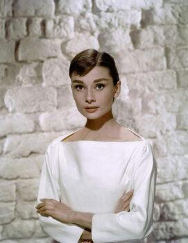 Vászonkép Audrey Hepburn in 'Funny Face' directed by Stanley Donen, 1957