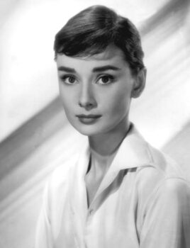 Vászonkép Audrey Hepburn in the 50's