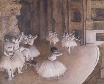 Vászonkép Ballet Rehearsal on the Stage, 1874