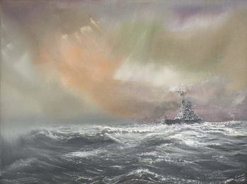 Vászonkép Bismarck signals Prinz Eugen 0959hrs 24/051941, 2007,