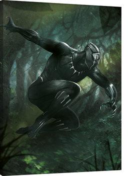 Vászonkép Black Panther - Forest Chase