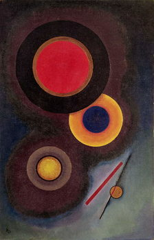 Vászonkép Composition with Circles and Lines, 1926