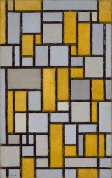 Vászonkép Composition with Grid 1