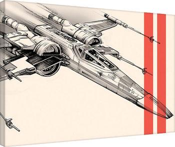 Vászonkép Csillagok háborúja VII (Star Wars: Az ébredő Erő) - Captain Phasma Tri