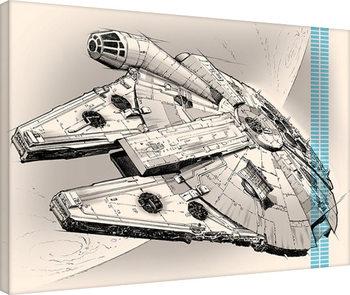 Vászonkép Csillagok háborúja VII (Star Wars: Az ébredő Erő) - One Sheet
