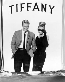 Vászonkép George Peppard And Audrey Hepburn, Breakfast At Tiffany'S 1961 Directed By Blake Edwards