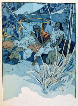 Vászonkép Illustration by Alphonse Mucha