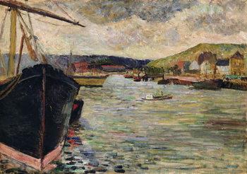 Vászonkép Port at Rouen
