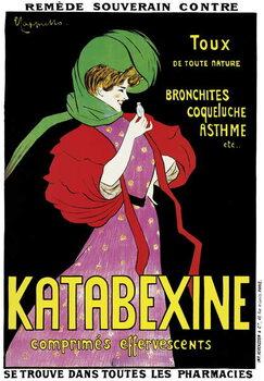 Vászonkép Poster advertising 'Katabexine' medicines