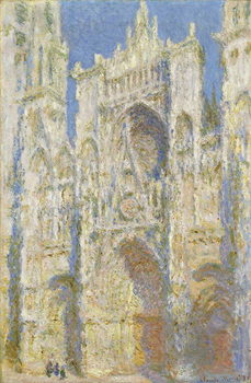 Vászonkép Rouen Cathedral, West Facade, Sunlight, 1894
