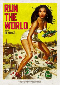 Vászonkép Run the world