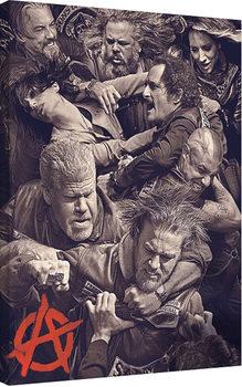 Vászonkép Sons of Anarchy (Kemény motorosok) - Fight