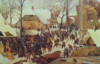 Vászonkép The Adoration of the Magi in the Snow, 1567