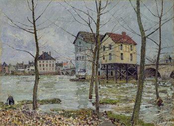 Vászonkép The Mills at Moret-sur-Loing, Winter, 1890
