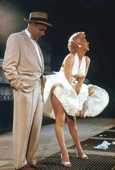 Vászonkép Tom Ewell And Marilyn Monroe