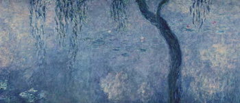 Vászonkép Waterlilies: Two Weeping Willows, right section, c.1915-26 (oil on canvas)