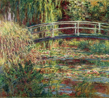 Vászonkép Waterlily Pond: Pink Harmony, 1900