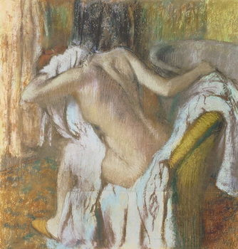 Vászonkép Woman drying herself, c.1888-92