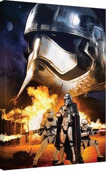 Vászonkép Csillagok háborúja VII (Star Wars: Az ébredő Erő) - Captain Phasma Art