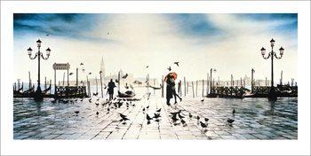 Velence - Il Bacio Festmény reprodukció