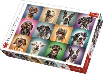 Puzzle Veselé psie portréty