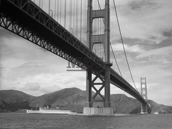 View of Golden Gate Bridge Festmény reprodukció