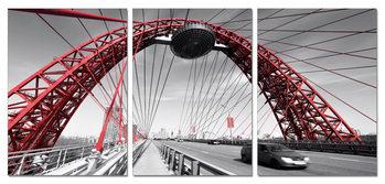 View of the bridge Moderne billede