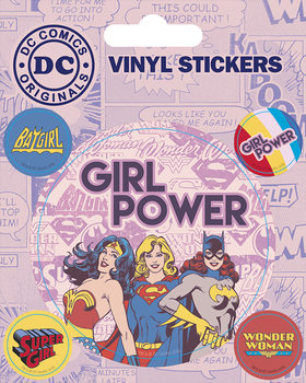 DC Comics - Girl Power Vinilne nalepka