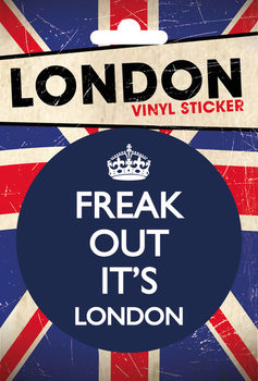 LONDON - freak out Vinilne nalepka