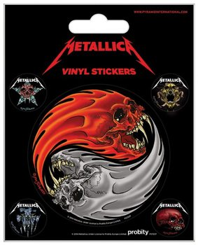 Metallica - Yin & Yang Skulls Pushead Vinilne nalepka
